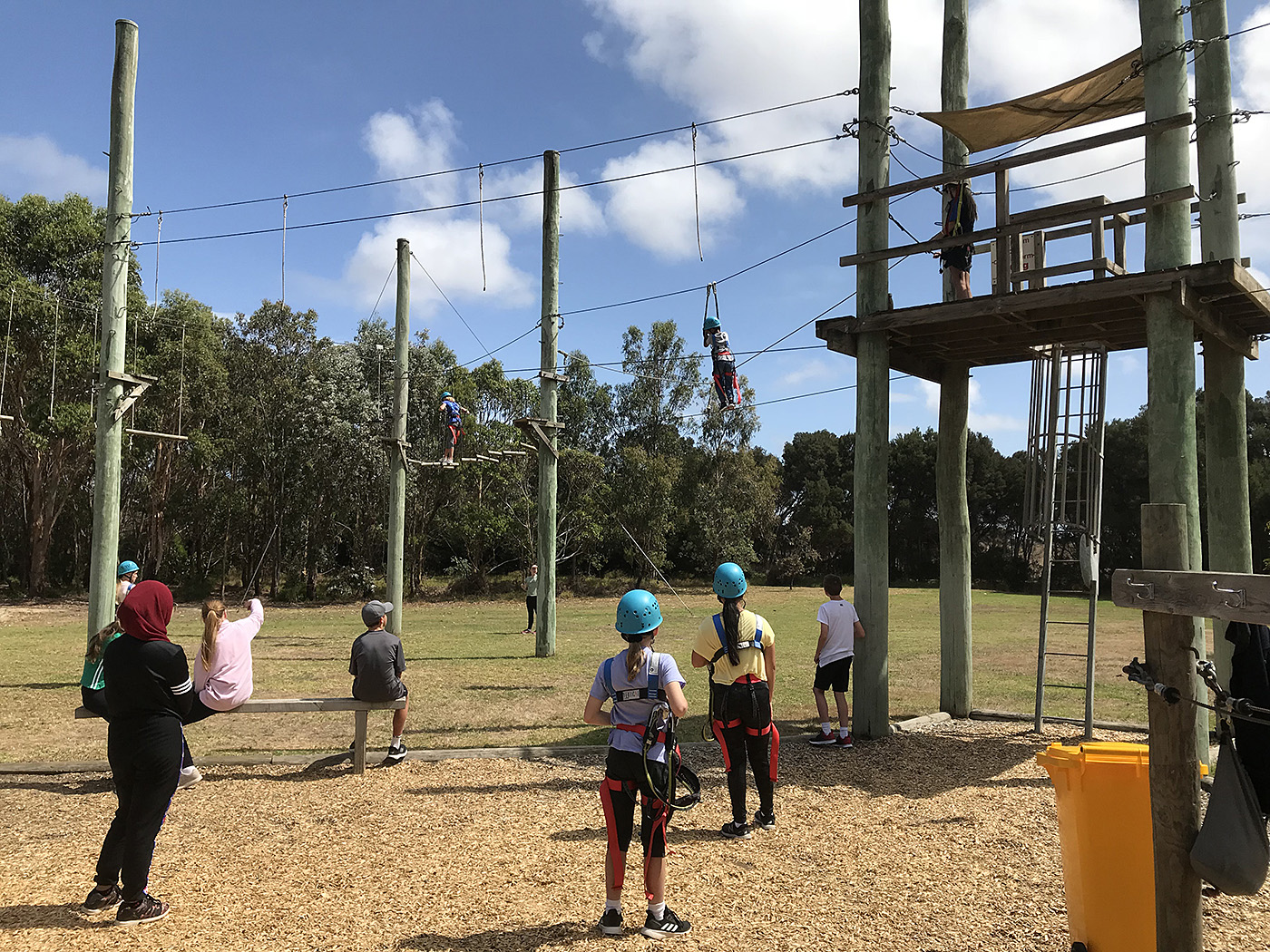Yr7 Camp Ropes Course 1
