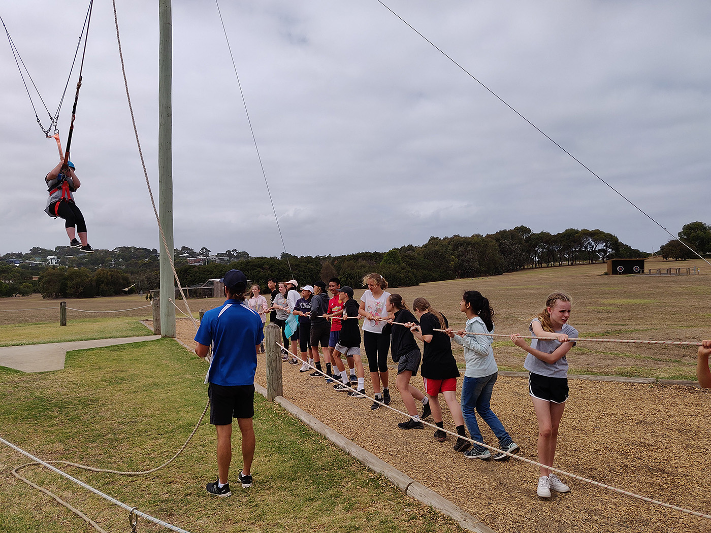 Yr7 Camp Ropes Course 3